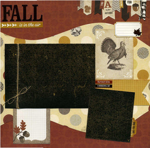 Fall is in the Air - 12x12 Premade Scrapbook Page