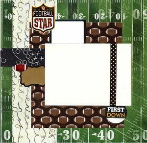 Football Star - 12x12 Premade Scrapbook Page