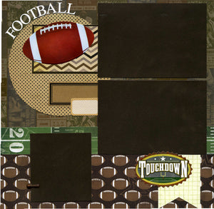 12x12 Premade Football Scrapbook Page