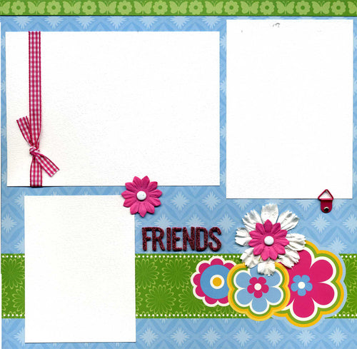 Friends - 12x12 Premade Scrapbook Page