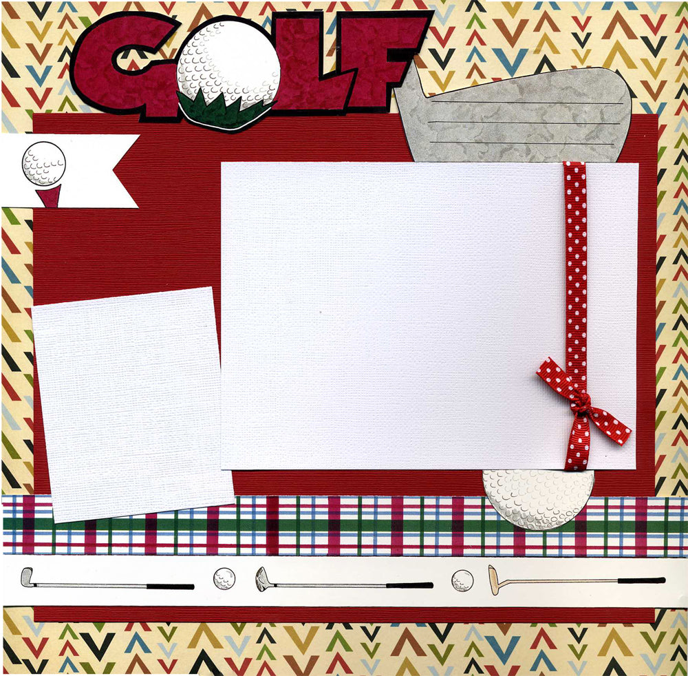 Golf - 12x12 Premade Scrapbook Page