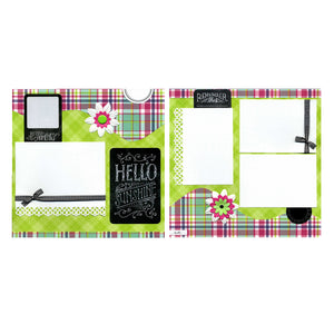Hello Sunshine - Two 12x12 Premade Scrapbook Pages