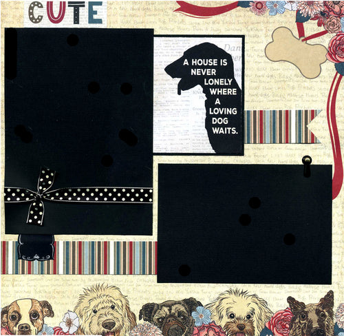 A Loving Dog Waits - 12x12 Premade Scrapbook Page