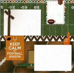 Keep Calm It's Football Season - 12x12 Premade Scrapbook Page