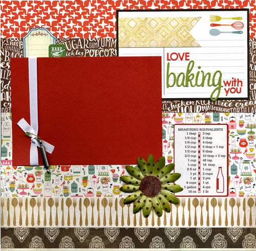 Love Baking With You - 12x12 Premade Scrapbook Page