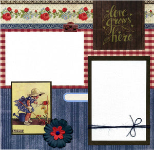 Love Grows Here - 12x12 Premade Scrapbook Page