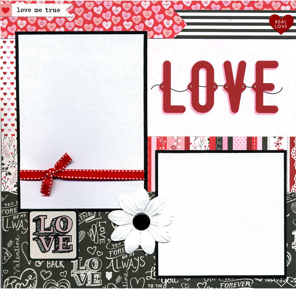 Love Me True - 12x12 Premade Scrapbook Page