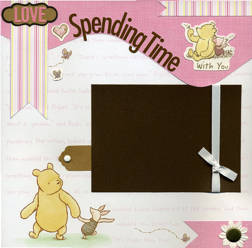 Love Spending Time With You - 12x12 Premade Scrapbook Page