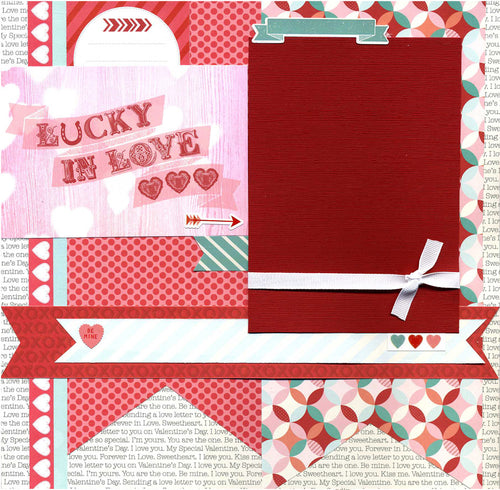 Lucky In Love - 12x12 Premade Scrapbook Page