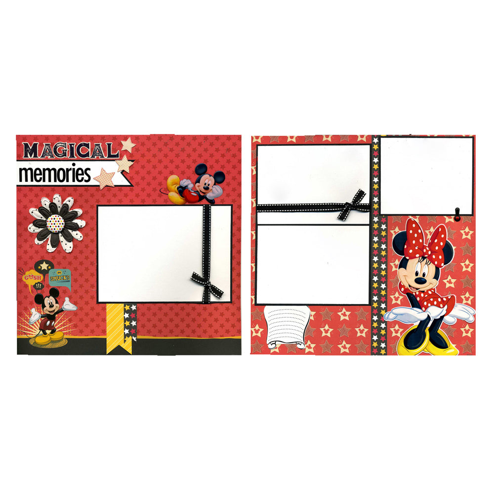 Magical Memories - Two 12x12 Premade Scrapbook Pages