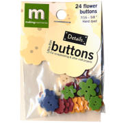 Flower Buttons - Muted Colors