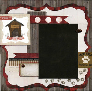 Paws Down You're The Best - 12x12 Premade Dog Scrapbook Page
