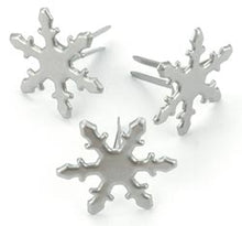Load image into Gallery viewer, Pewter Snowflake Brads