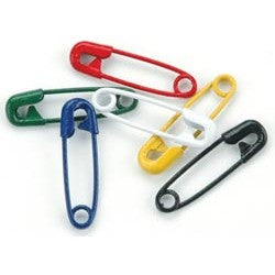 Colorful Safety Pins - Primary