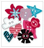 Chipboard Buttons - Roxie - Love, Elsie