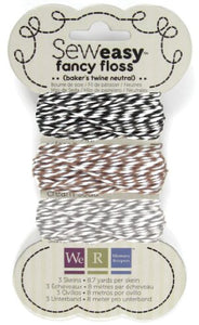 Sew Easy Fancy Floss - Bakers Twine - Neutrals
