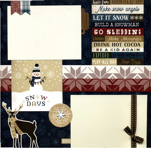 Snow Days - 12x12 Premade Scrapbook Page