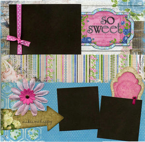 So Sweet - 12x12 Premade Scrapbook Page