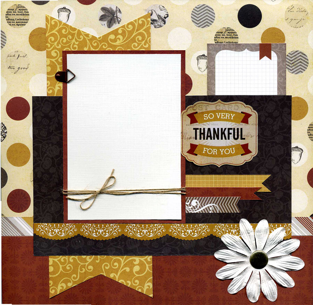 So Very Thankful For You - 12x12 Premade Scrapbook Page