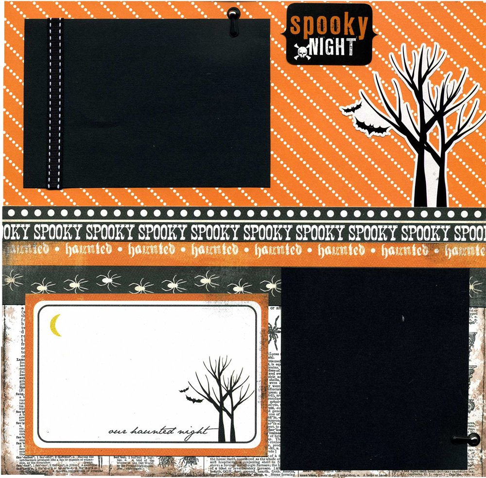 Spooky Night - 12x12 Premade Scrapbook Page