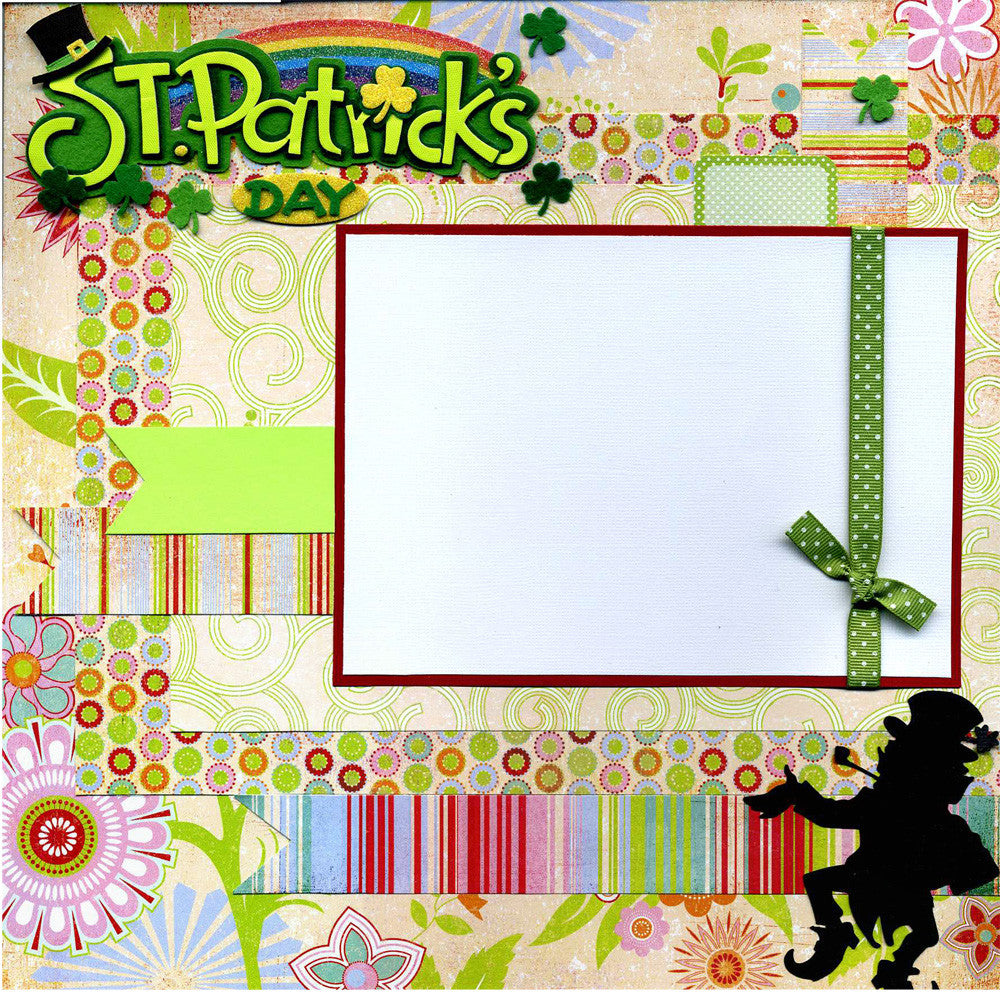 St. Patrick's Day - 12x12 Premade Scrapbook Page