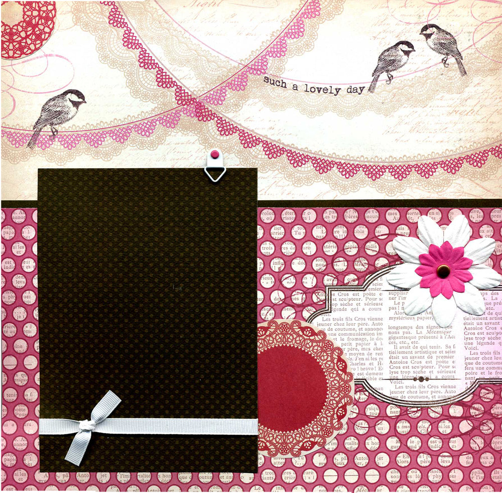 Such A Lovely Day - 12x12 Premade Scrapbook Page