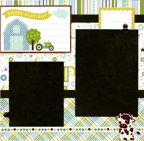 Sweet Baby Boy - 12x12 Premade Scrapbook Page