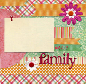 We Are Family - 12x12 Premade Scrapbook Page