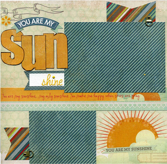 You Are My Sunshine - 12x12 Premade Scrapbook Page