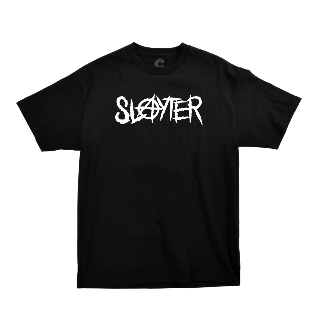 SLAYTER LOGO BLACK TEE