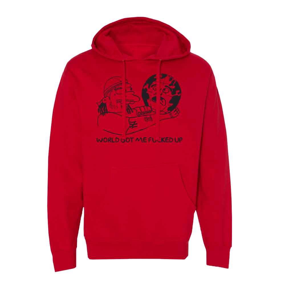 Nelsons World Red Hoodie