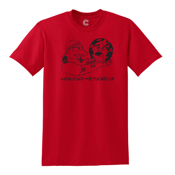 Nelsons World Red Tee + Digital Album