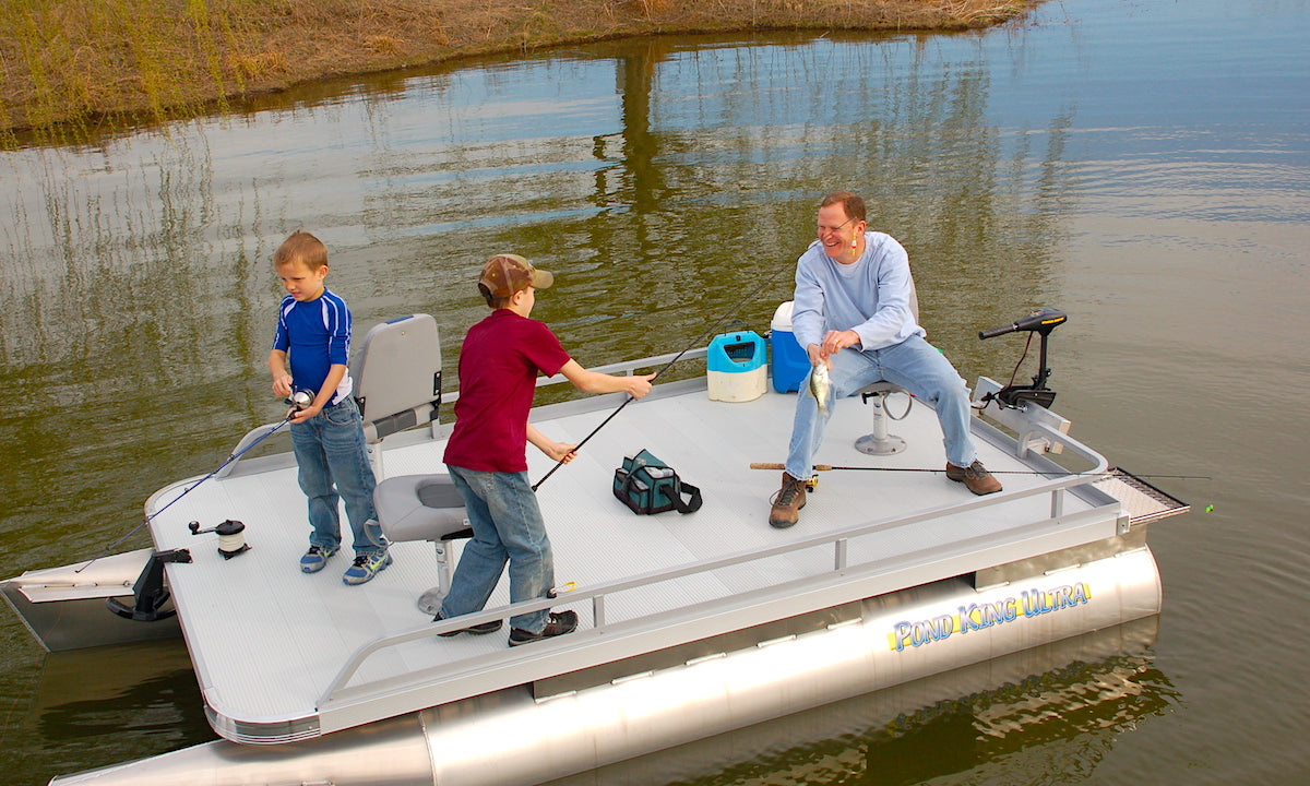 Family fishing shallow water on the Ultra