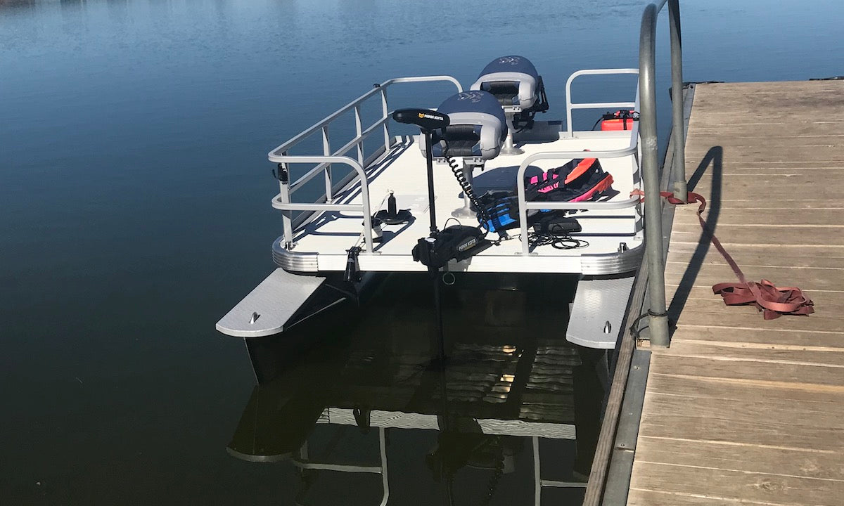 Pond King Sport Tied to Dock