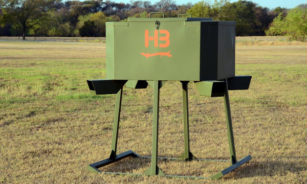 Attractive 4 Tube Gravity Protein Feeders | Hunting | Deer Feeders | Pond King U2014 Pond  King, Inc.