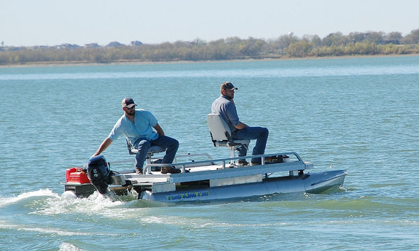 Best selling fishing pontoon boat for two anglers pond for Best small fishing boat