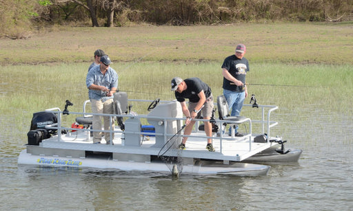 Four-man mini pontoon fishing boat - Pond King Elite