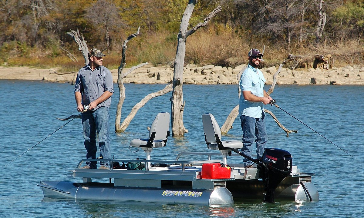 The Ideal Small Pontoon Boat For Larger Lakes Pond King Pro Pond King Inc