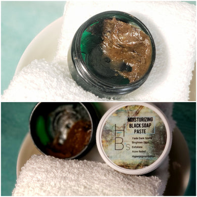 Honey B's All Natural Moisturizing Black Soap Paste