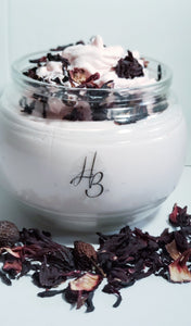 "Honey B's ""A Rose is Still a Rose"" Hibiscus and Rose Infused Shea Butter Silk"