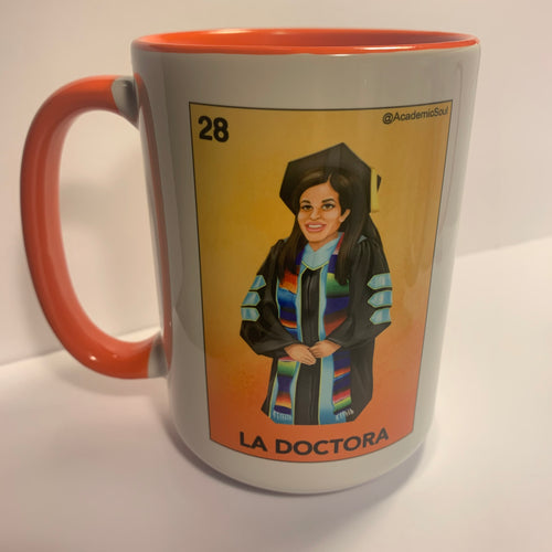 Academic Soul's La Doctora Lotería Coffee Mug