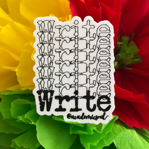 Academic Soul 'Write' Sticker