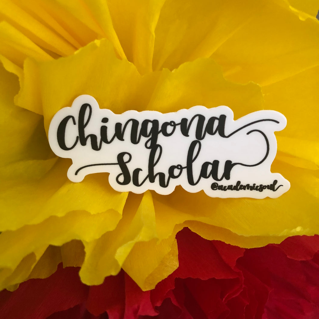 Chingona Scholar Sticker