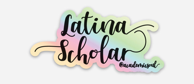 Academic Soul Latina Scholar Sticker