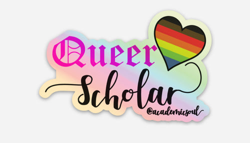 Academic Soul Queer Scholar Sticker