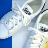 Lacets coton sneakers blanc et jaune - Made in France - Petit-détail.ch