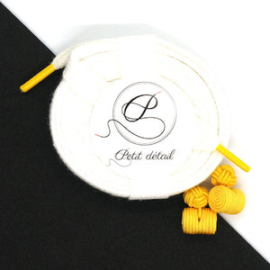 Set city Blanc & Jaune - Lacets Made in France - Petit-détail.ch