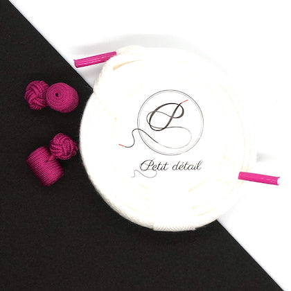 Set city Blanc & Rose Fuchsia - Lacets Made in France - Petit-détail.ch