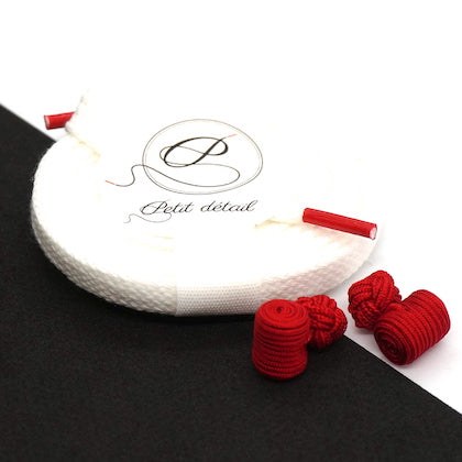 Set city Blanc & Rouge - Lacets Made in France - Petit-détail.ch