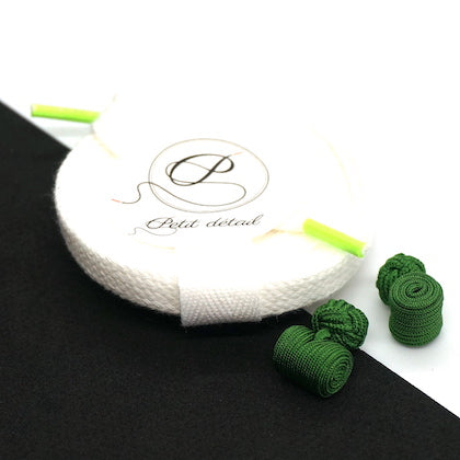 Set city Blanc & Vert - Lacets Made in France - Petit-détail.ch